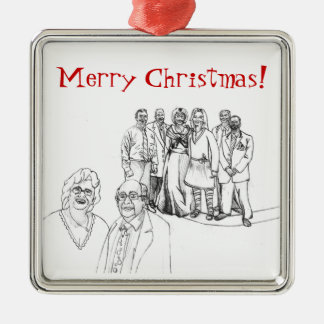 Mag Family Portrait Metal Ornament
