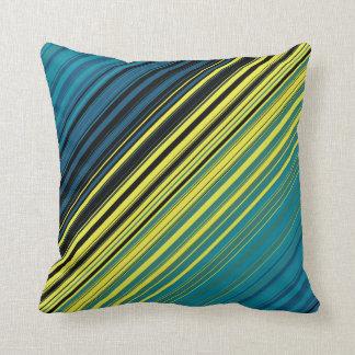 Mag Green Multi Diagonal Stripes Throw Pillow