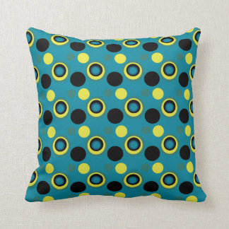 Mag Green Multi Spotted Throw Pillow