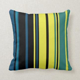 Mag Green Multi Stripes Throw Pillow