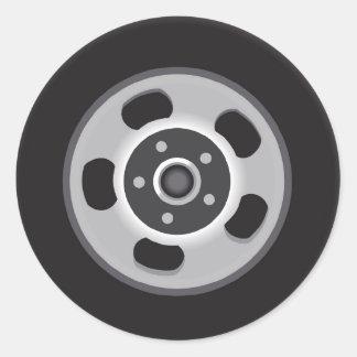 Mag Wheels Round Sticker