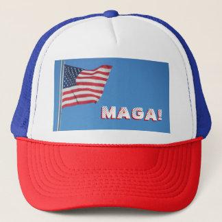 MAGA! American Flag Trucker Hat