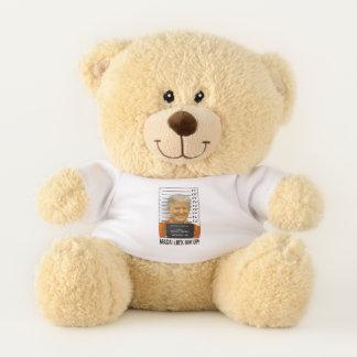 MAGA Lock Him Up Mugshot Moron 45 Teddy Bear