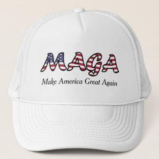 MAGA Make America Great Again US Flag Trucker Hat