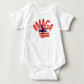 #MAGA USA Thumbs Up Make America Great Again Trump Baby Bodysuit