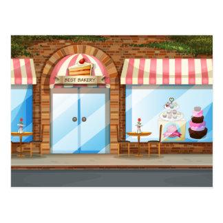Magasin de boulangerie carte postale