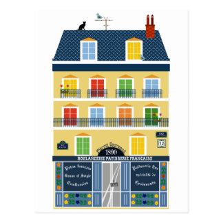 Magasin de boulangerie d'illustration de bâtiment carte postale