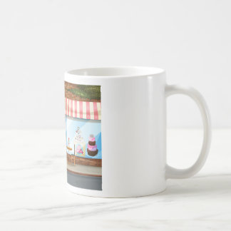Magasin de boulangerie mug blanc