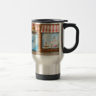 Magasin de boulangerie mug de voyage