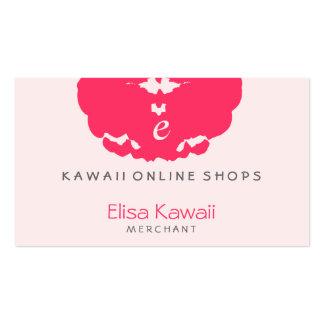 Magasins de tache d'E Kawaii Modèles De Cartes De Visite
