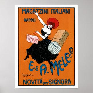Magazzini Italiani ~ E. A. Mele co. Poster
