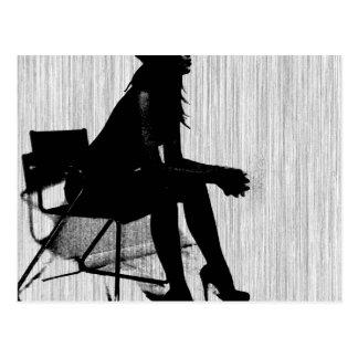 Magdalen in Black Postcard