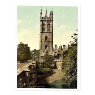 Magdalen Tower, Oxford, England magnificent Photoc Postcard