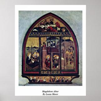 Magdalene Altar By Lucas Moser Poster