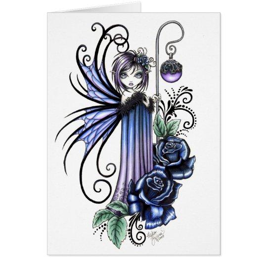 Magdalene Blue Rose Fairy Card