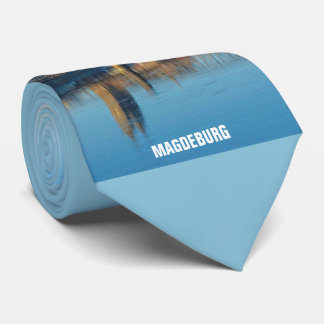Magdeburg Cathedral with river Elbe 01.4.T Tie