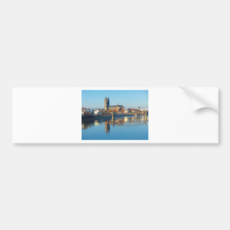 Magdeburg Cathedral with river Elbe 01 Bumper Sticker