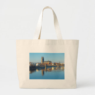 Magdeburg Cathedral with river Elbe 01 Large Tote Bag