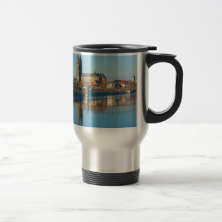 Magdeburg Cathedral with river Elbe 01 Travel Mug