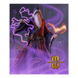 Mage Wars® Wizard of Sortilege Poster (20x24)