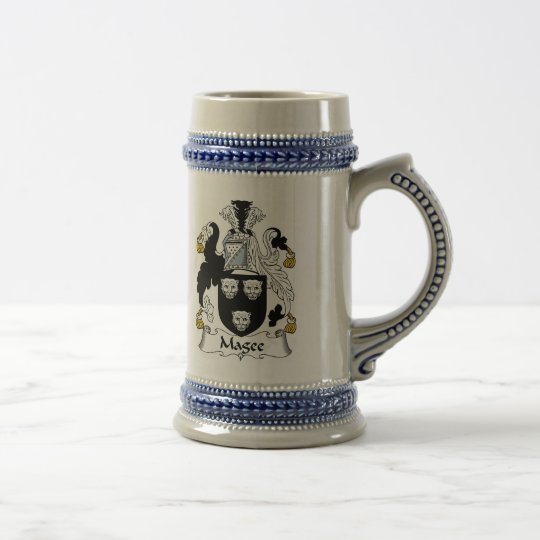 Magee Coat of Arms Stein - Family Crest
