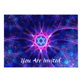 "Magen Bet Bar/Bat Mitzvah 5"" X 7"" Invitation Card"
