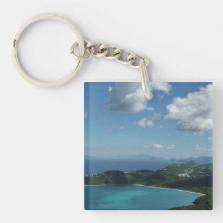 Magens Bay, St. Thomas Beautiful Island Scene Keychain