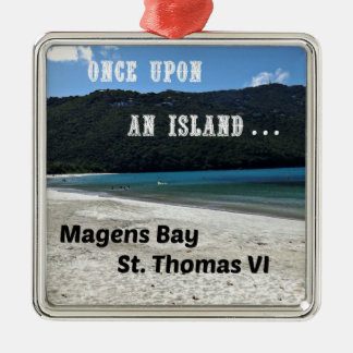 Magens Bay, St. Thomas VI Silver-Colored Square Ornament