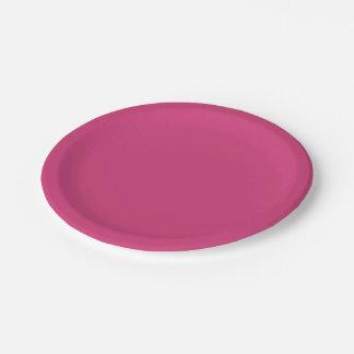 Magenta 7 Inch Paper Plate