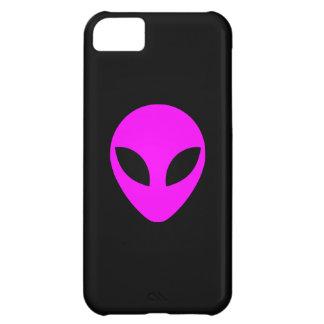Magenta Alien Head iPhone 5C Cases