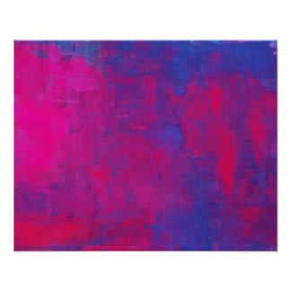 Magenta and Blue Abstract Painting Poster