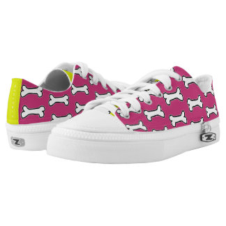 Magenta and Chartreuse Dog Bone #GOFORTH Low-Top Sneakers