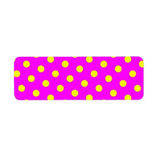 Magenta and Yellow Polka Dots