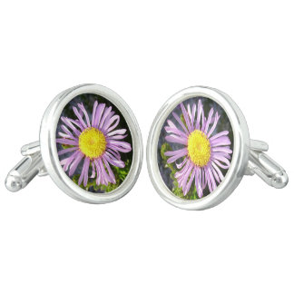 Magenta Aster - A Star of Love and Fidelity Cufflinks