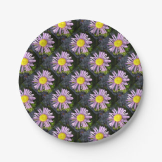 Magenta Aster - A Star of Love and Fidelity Paper Plate