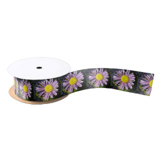 Magenta Aster - A Star of Love and Fidelity Satin Ribbon