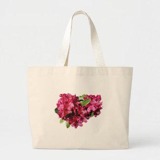 Magenta Azaleas Large Tote Bag