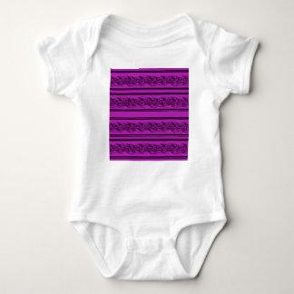 Magenta barbwire baby bodysuit
