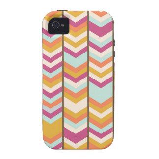 Magenta Blue Orange Gold Checks V Patterns Vibe iPhone 4 Cases