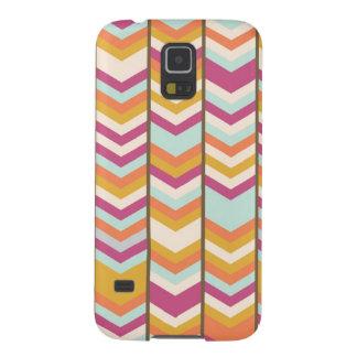 Magenta Blue Orange Gold Checks V Patterns Galaxy S5 Cases