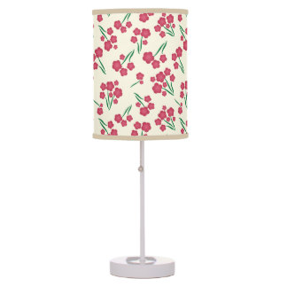 Magenta Bubble Flower Pink Flowers Spring Floral Table Lamp