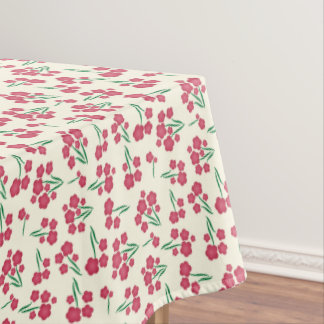 Magenta Bubble Flower Pink Flowers Spring Floral Tablecloth