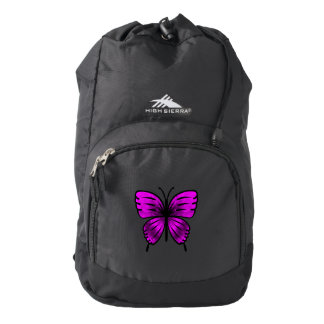 magenta butterfly backpack