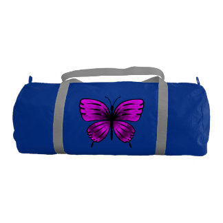 magenta butterfly gym bag