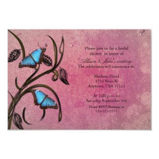 Magenta Butterfly Pair Bridal Shower Invitation