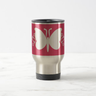 Magenta Butterfly Swirls Mug