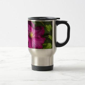 Magenta Clematis Blossom Travel Mug