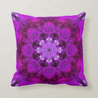 Magenta  Coral Throw Pillow