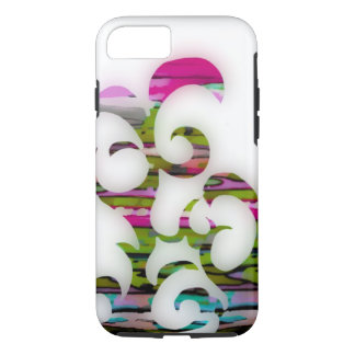 Magenta Curve iphone 7 tough case