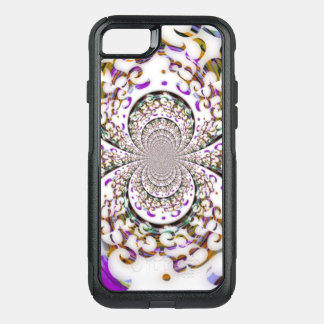 Magenta Curves and Swirls OtterBox Commuter iPhone 8/7 Case